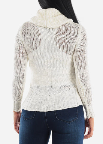 Image of Turtleneck Loose Knit Sweater