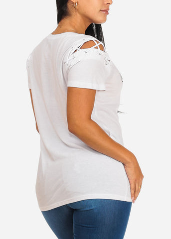 Image of Undomesticated Graphic  White Top