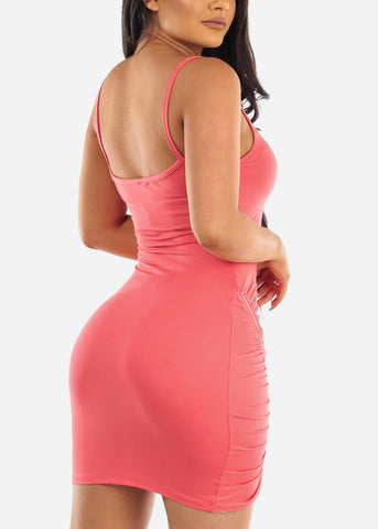 Sexy Clubwear Going Out Party Club Tight Fit 2019 Little Pink Bodycon Mini Dress