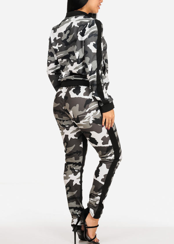 Grey Camo Sweater W Pants (2 PCE SET)