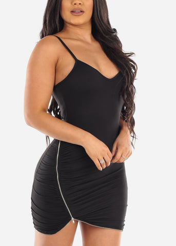 Sexy Clubwear Going Out Party Club Tight Fit 2019 Little Black Bodycon Mini Dress