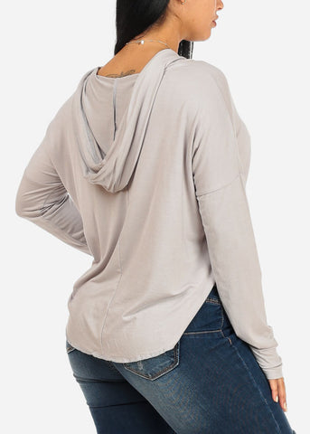 Messy Bun Graphic Light Grey Sweatshirt