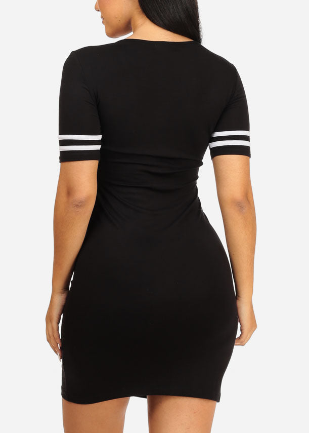 Black Love Aholic Graphic Dress