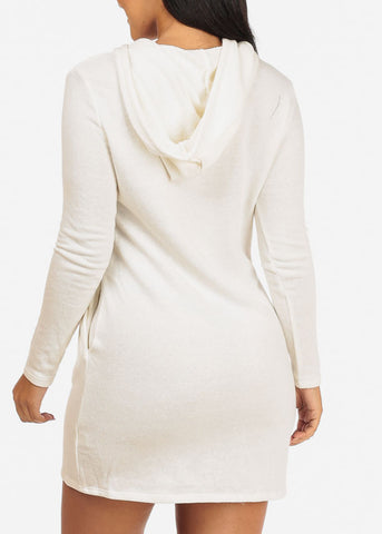 Image of Ivory Rose Heart Sweater Dress