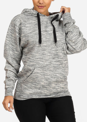 Cozy Charcoal Heather Sweater W Hoodie