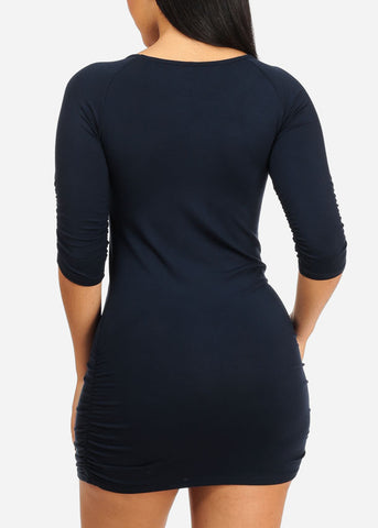 Image of Navy No Drama Please Bodycon Dress