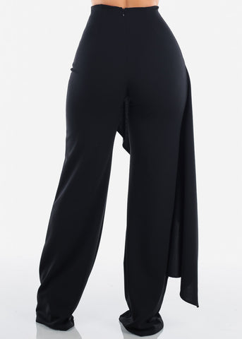 Black High Rise Elegant Pants