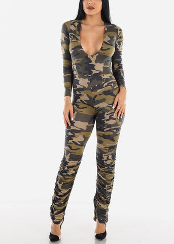 Green Camo Jumpsuit