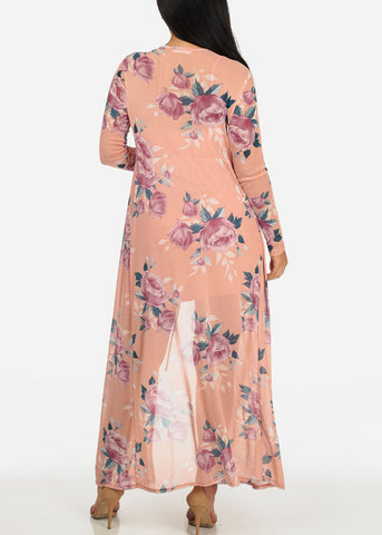 Two Layer Floral Print Dress