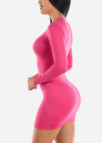 Bodycon Fuchsia Dress