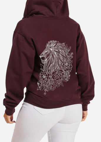 King Lion Graphic Sweater W Hoodie