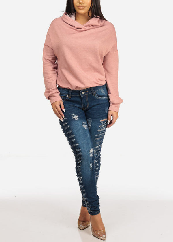 Blush Hooded Sweatshirt Bodysuit