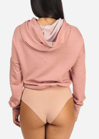 Image of Blush Hooded Sweatshirt Bodysuit