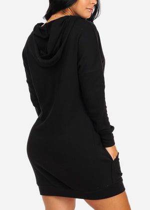 Black Good Vibes Comfy Dress