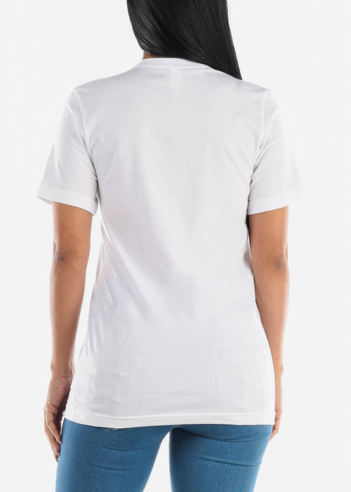 "White Graphic T-Shirt ""Unshy"""