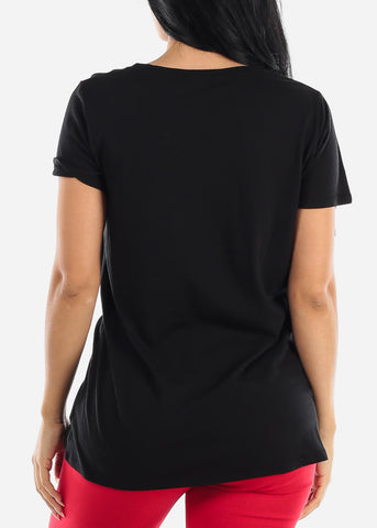 "Image of Black Graphic Tunic Top ""This Is My Morning T-Shit"""