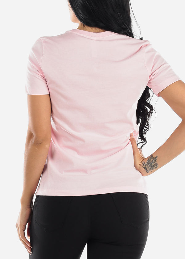 Light Pink Graphic T-Shirt