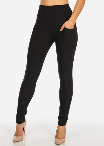 Image of One Size High Waisted Black Skinny Pants