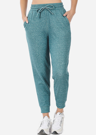 Fleece Heather Teal Jogger Sweatpants