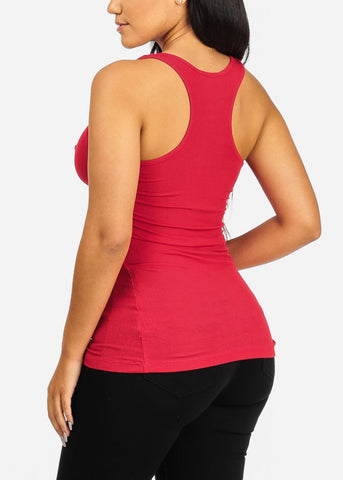 Image of Basic Red Racerback Top