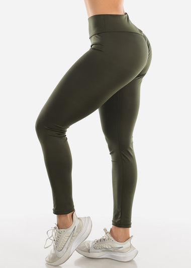 Activewear Push Up Olive Leggings
