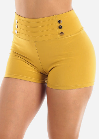 Image of Mustard High Rise Shorts