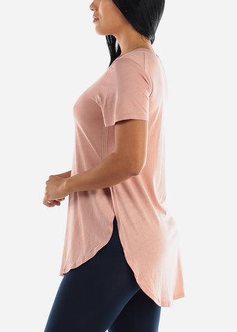 Side Slits Mauve Tunic Top
