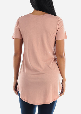 Image of Side Slits Mauve Tunic Top