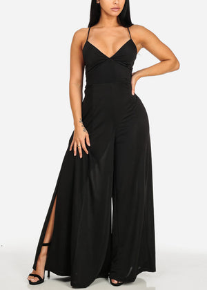 Sexy Evening Wear Black Jumpsuit