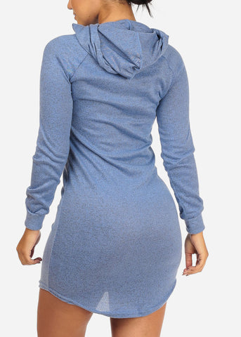 Blue Love Dress W Hood