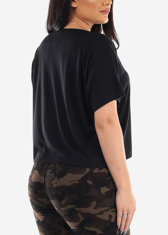 "Image of Black Crop Top ""OVERDRESSED"""