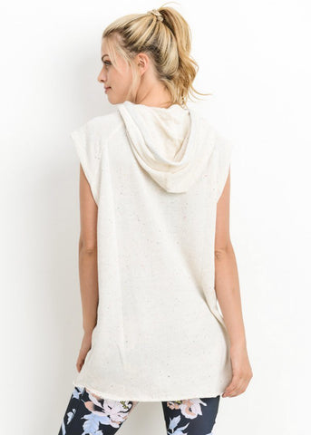 Image of Sleeveless Oatmeal Sweatshirt