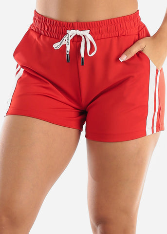 Image of Red Activewear Shorts