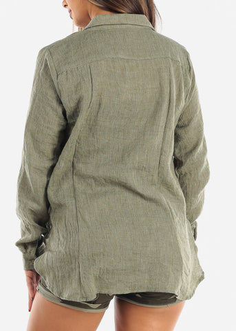 Image of Lightweight Olive Cardigan