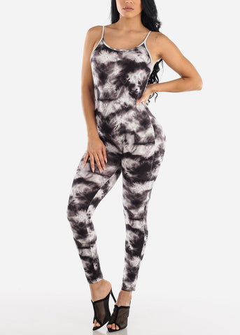 Image of Black Tie Dye Jumpsuit