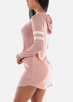 Long Sleeve Mauve Sweater Dress