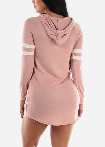 Image of Long Sleeve Mauve Sweater Dress