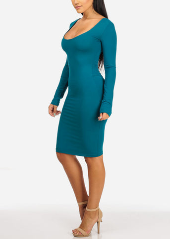 Sexy Stretchy Teal Bodycon Dress