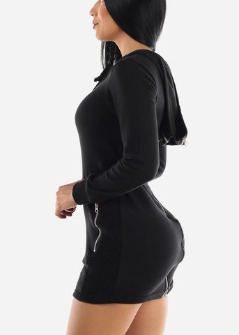 Image of Black Hoodie Dress