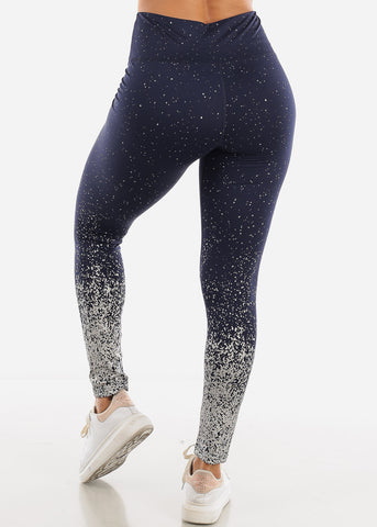 Active Wear Navy Sparkle Leggings