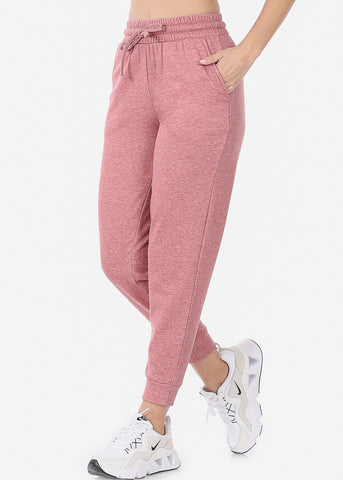 Fleece Heather Rose Jogger Sweatpants