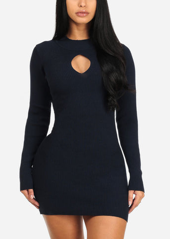 Navy Bodycon Mini Dress