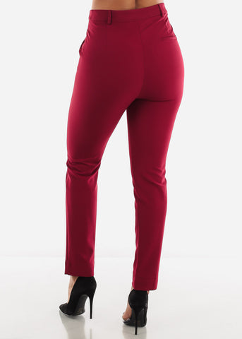 Image of Burgundy Career Wear Pants