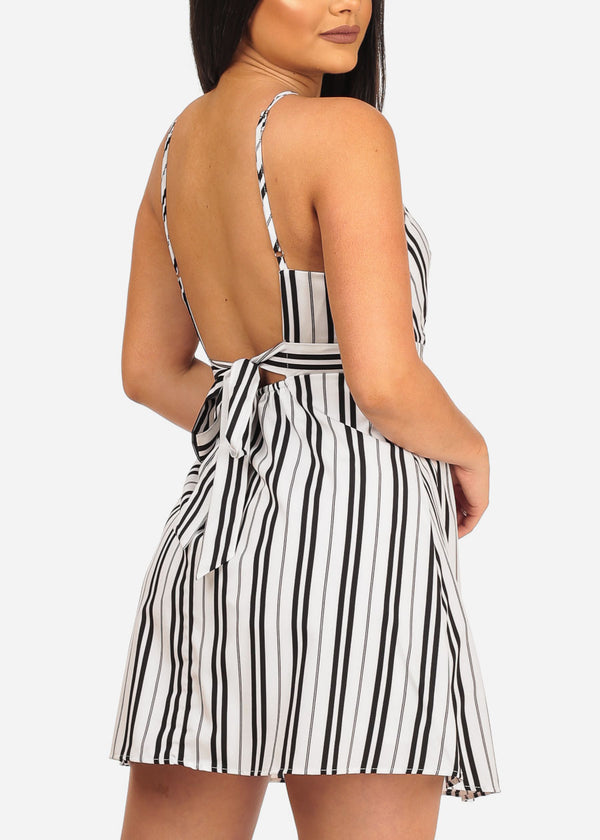 Sexy White Stripe Dress