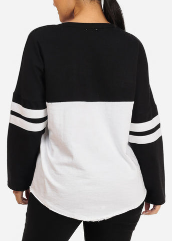 Black Long Sleeve Pullover Sweatshirt