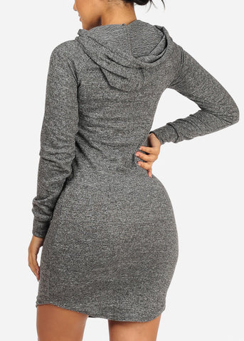 Image of Charcoal Love Dress W Hood