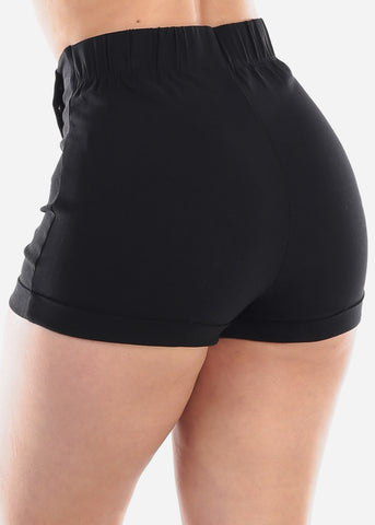 Image of Sexy High Rise Black Shorts