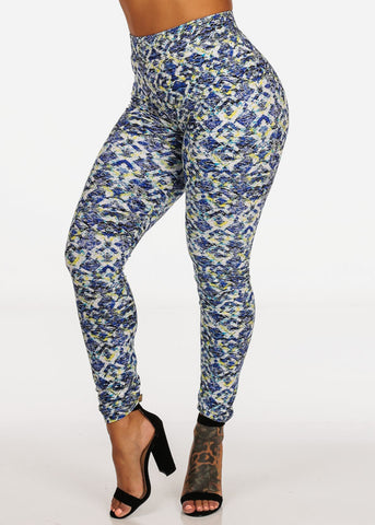 Abstract Print Stretchy Leggings