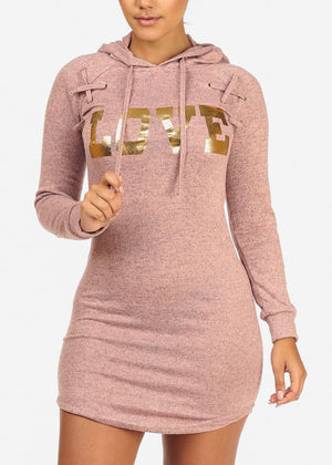Blush Love Dress W Hood