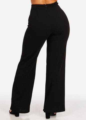 High Waisted Wide Legged Black Pants
